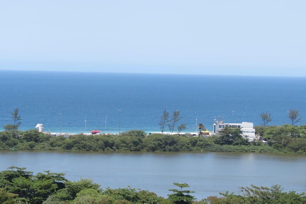Vista da varanda do salão - praia da Barra da Tijuca