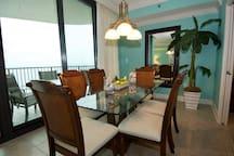 Dining Room overlooking Balcony