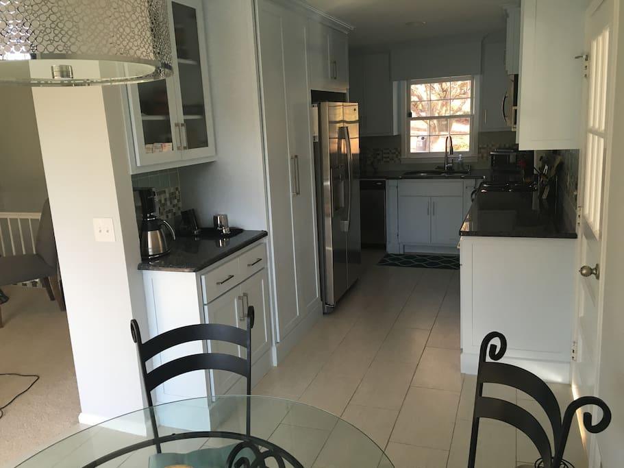Kitchen / Breakfast Nook with Coffee Station