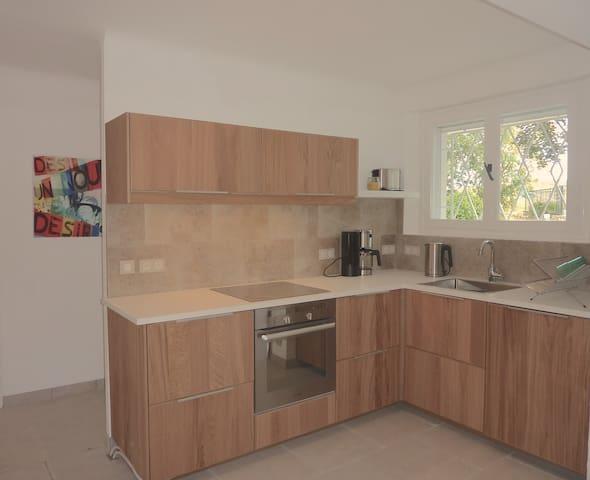 Fully fitted modern kitchen. ground floor