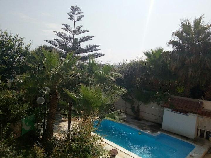 Chambres vue sur la piscine