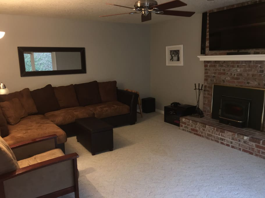 Guests may feel free to use common spaces in the home, such as our downstairs living room.