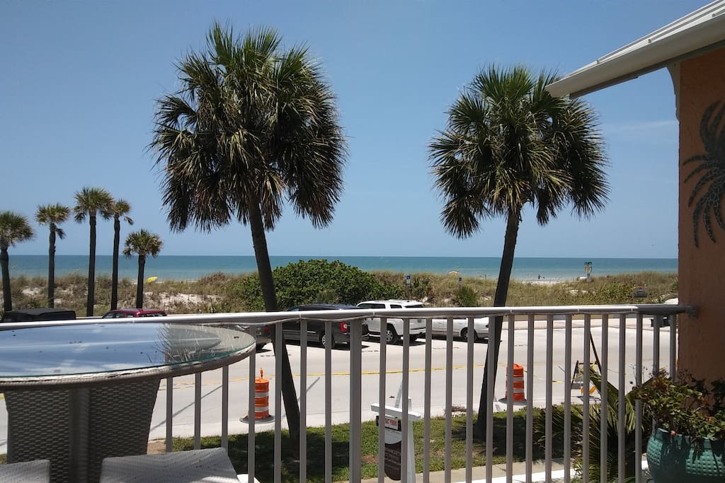 Daytime view from one of the balconies at this beach town home.