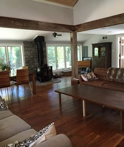 Lux modern home in the woods w spa - Jim Thorpe - House