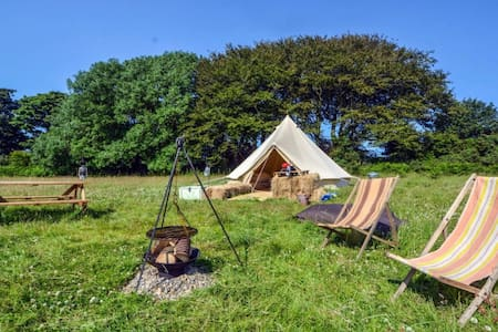 Bell Tents at Sloeberry Farm - No 3 - near Aberporth