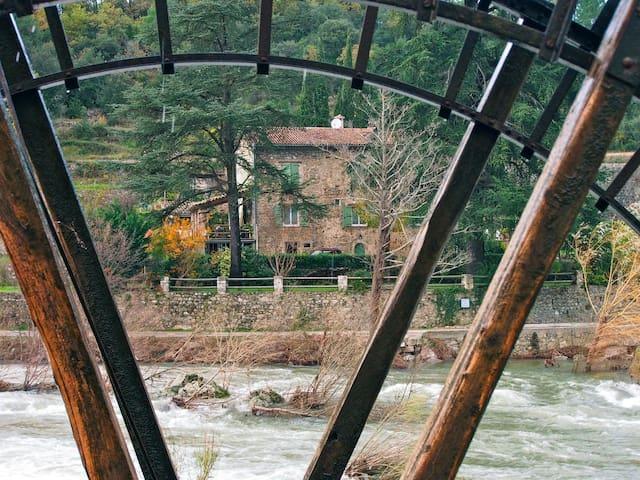 Le Moulin de Corbès, sur le Gardon à 3km.  The watermill of Corbès, about 3km away