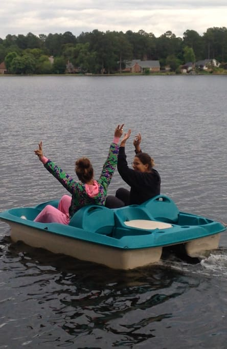 What about a peddle boat ride?