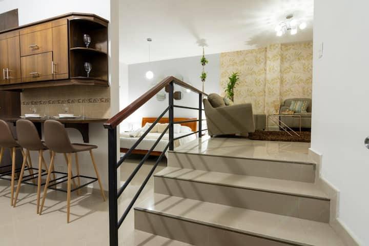 Lindo apartamento doble altura sector campestre