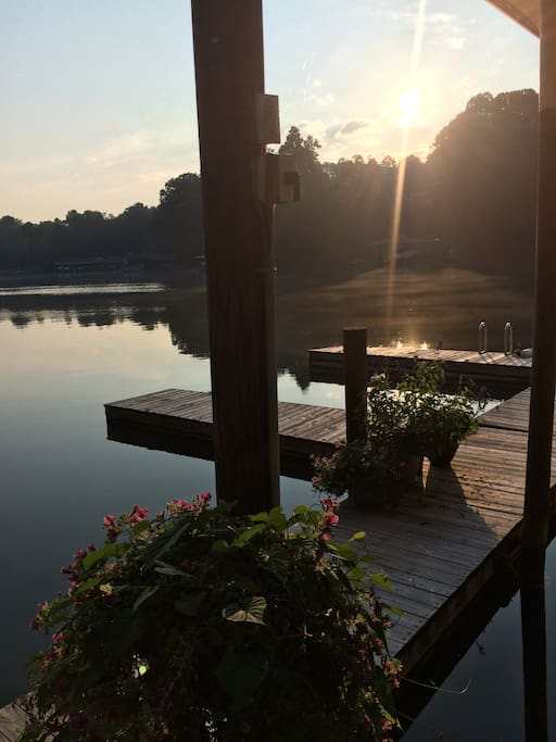 Don't fail to enjoy the dock early am