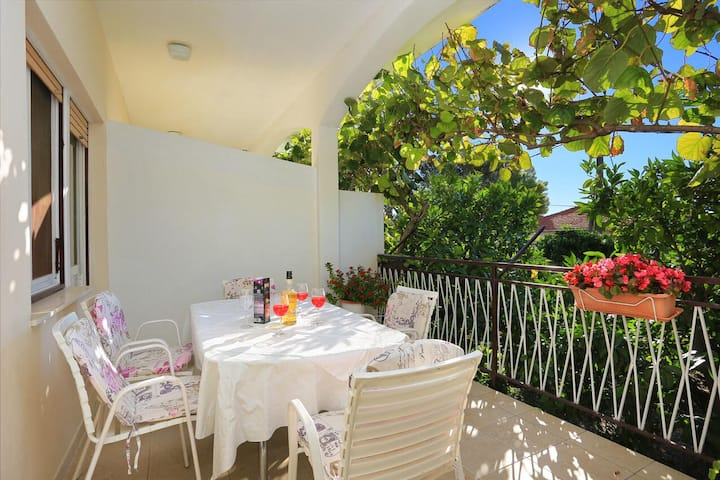 Two bedroom apartment with terrace and sea view Seget Donji, Trogir (A-2029-a)