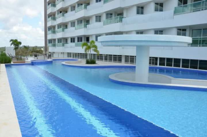 Apartamento Resort alto padrão e vista  para o mar