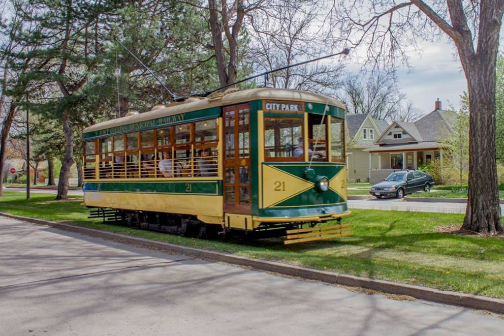 Ride our picturesque trolley to Old Town