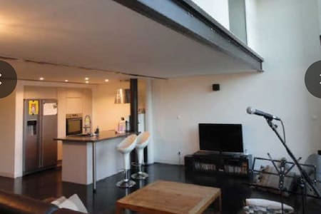 Chambre-magnifique loft résidentiel - Roubaix - Loft