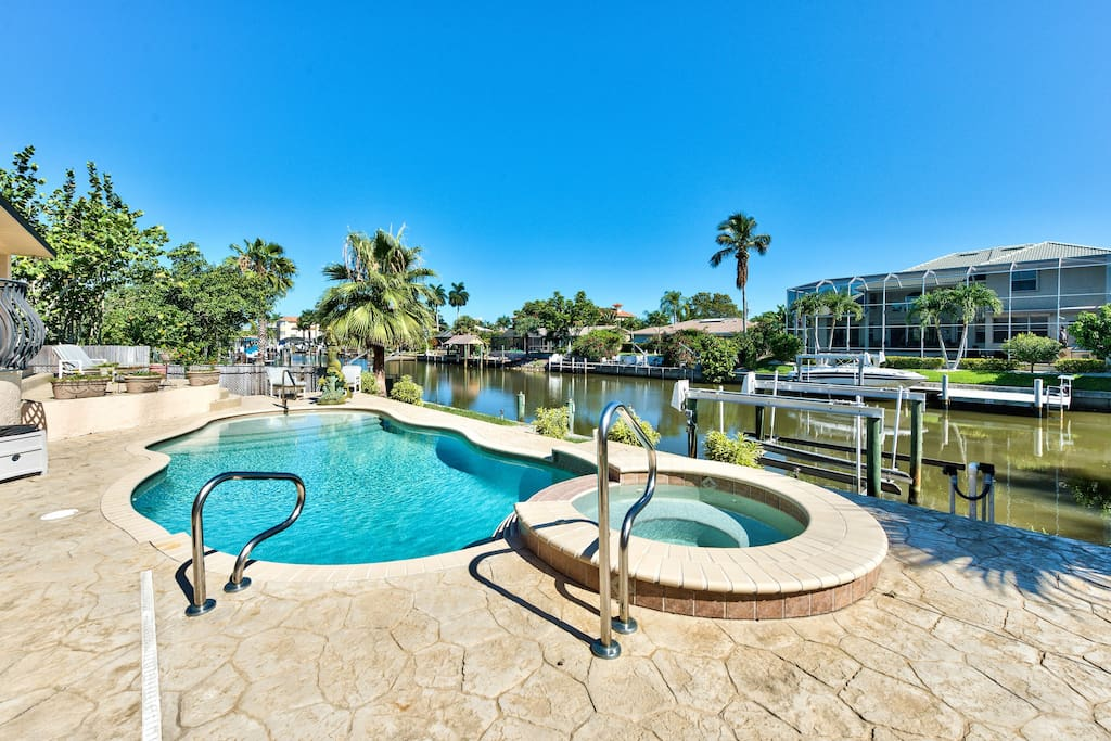 Private Pool Home Overlooking Canal in the Connors - Sirena Waterfront Vacation Rental - Naples Florida Vacation Homes