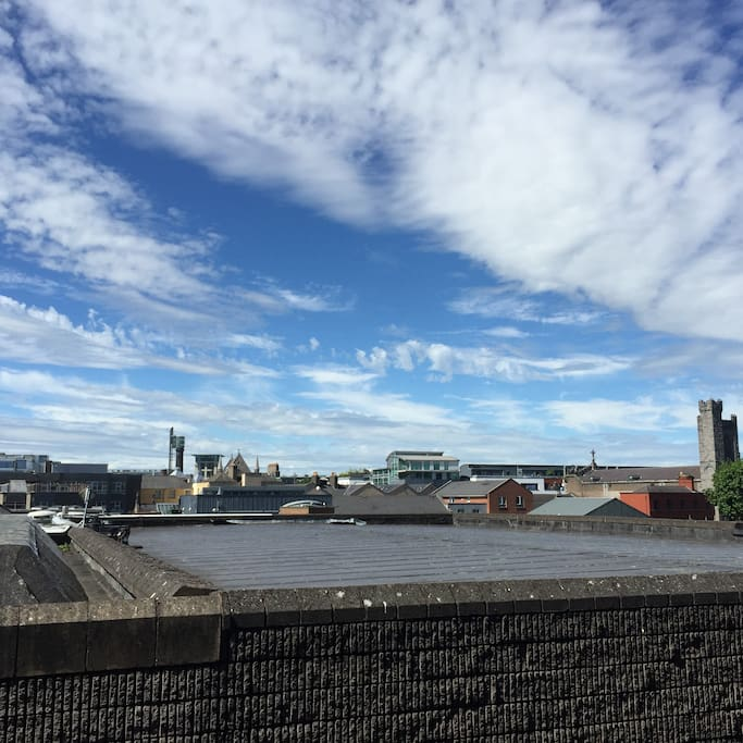 A view from the master bedroom of the Dublin skyline