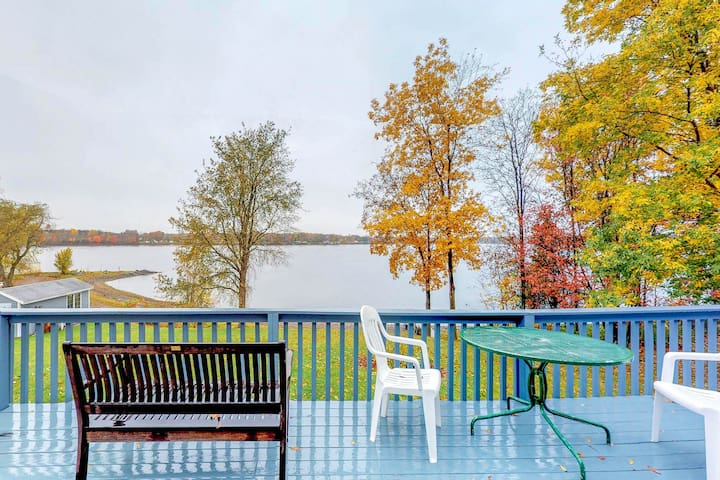 Charming lakefront home w/ private beach and gorgeous views - dogs ok