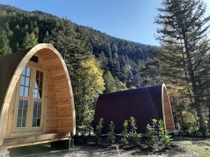 Schlaf Pod 1 am Camping Schwarzenau Achensee