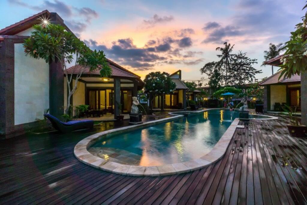 Sunset time in Pondok Frangipani