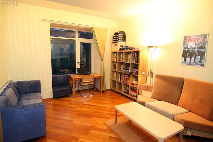 City center main room (WIFI, gym, sauna) - Tartu - Apartemen