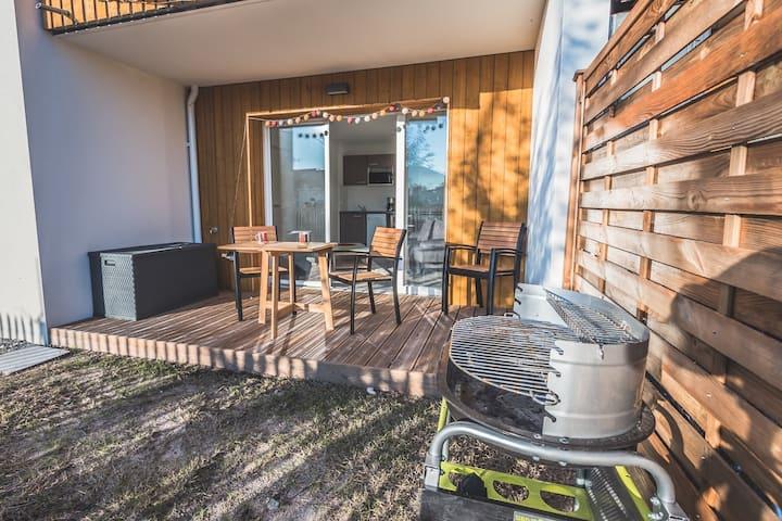 Bel appartement neuf 2 à 4 couchages proche centre ville Biscarrosse