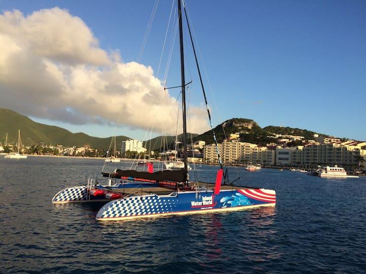 Caribbean 's island on a catamaran
