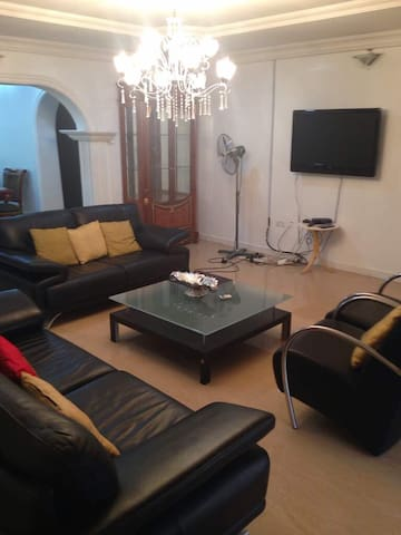 Living Room with a DSTV Connection.