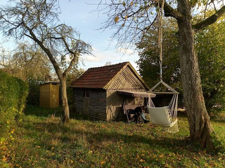 Romantische Hexenhütte auf dem Eselhof