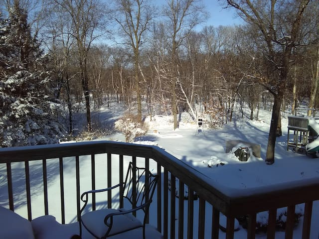 Retreat in the woods during your Super Bowl stay!
