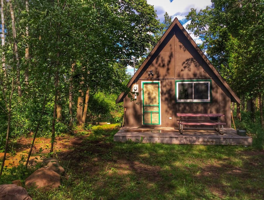 Coyote Timbers Cabins For Rent In Pine City Minnesota