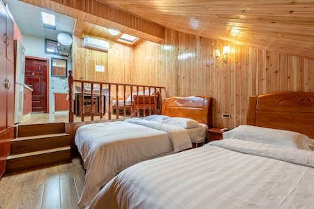 仙女山空调小木屋家庭房
