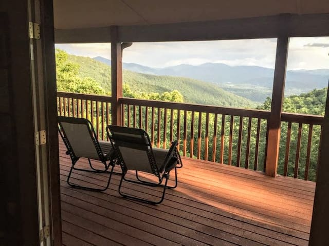 Enjoy the views from the upper master suite's own private deck