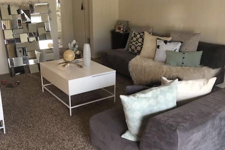 A couch bed in my living room - San Diego