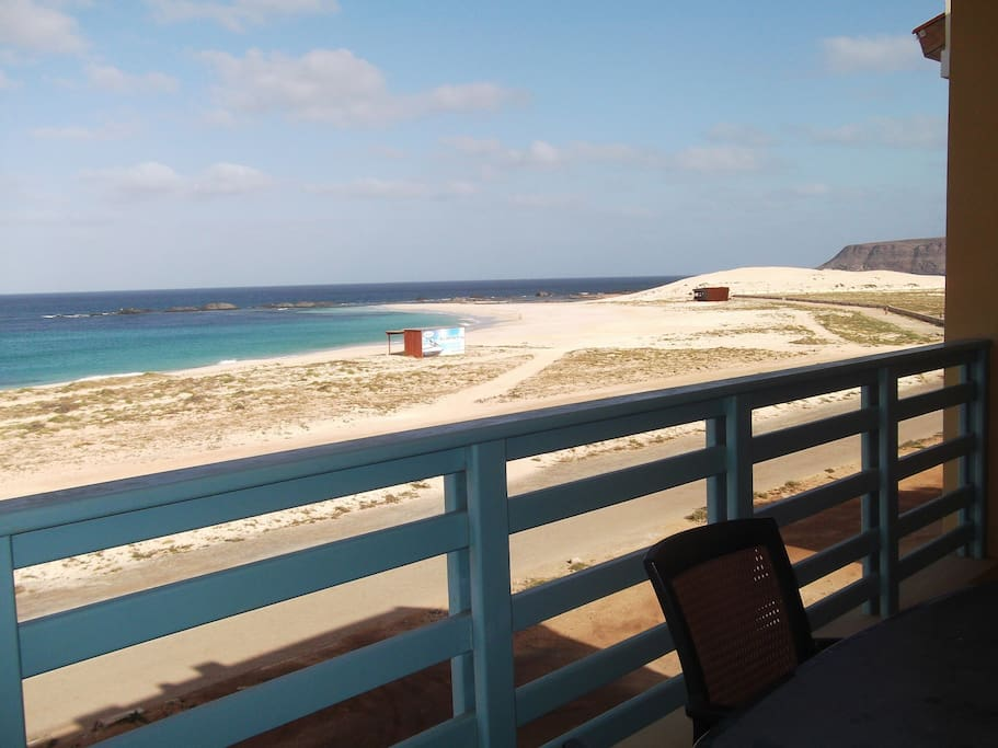 The view from the apartment of the Beach