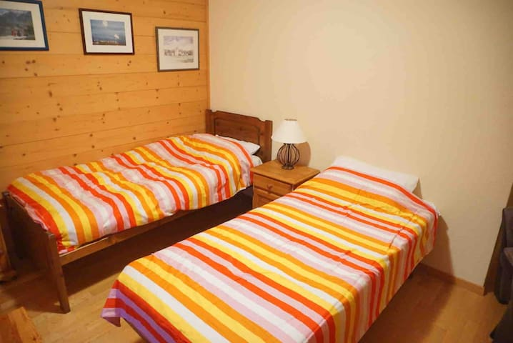 Can also be made into a double bed or one single.