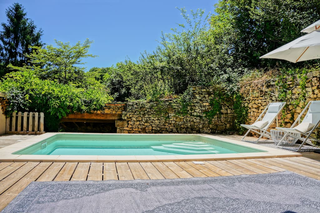 The totally private pool which is 5 x 4 metres