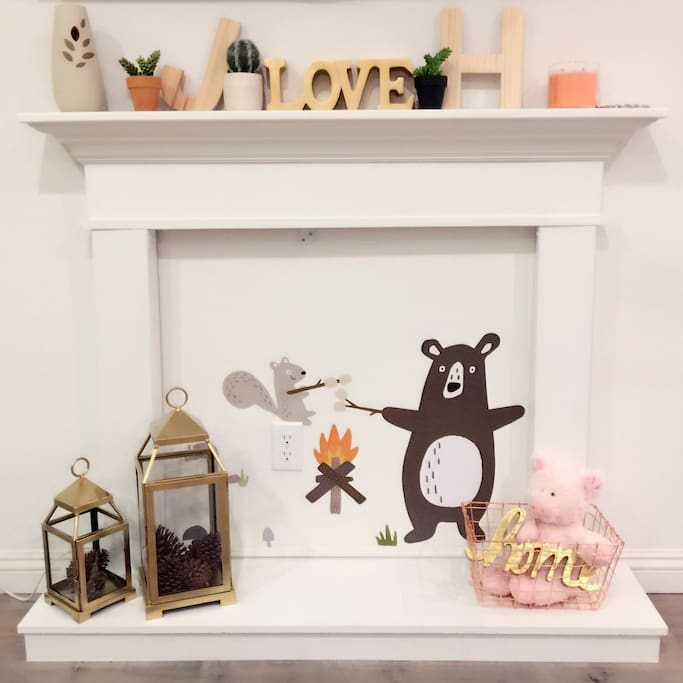 our DIY fireplace