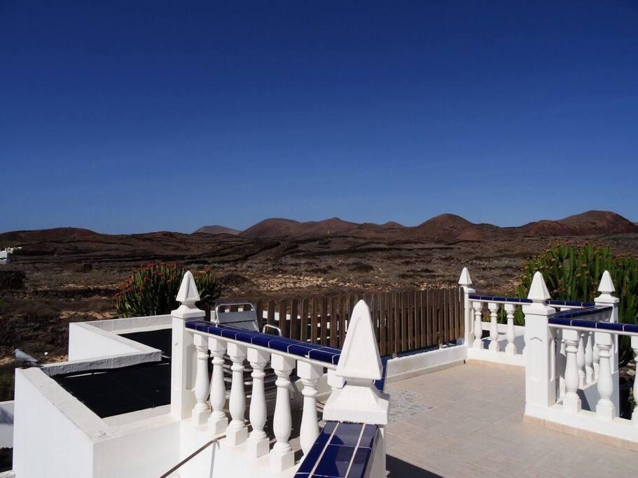 Blick von der privaten Terrasse