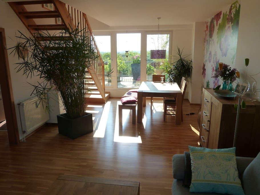 livingroom with terrace