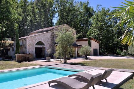 Mas en pierre avec piscine privée sans vis a vis - Barjac