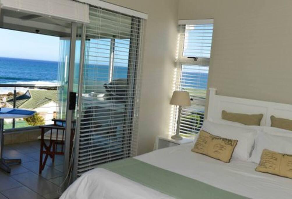 Bedroom en suite leading onto sea view patio