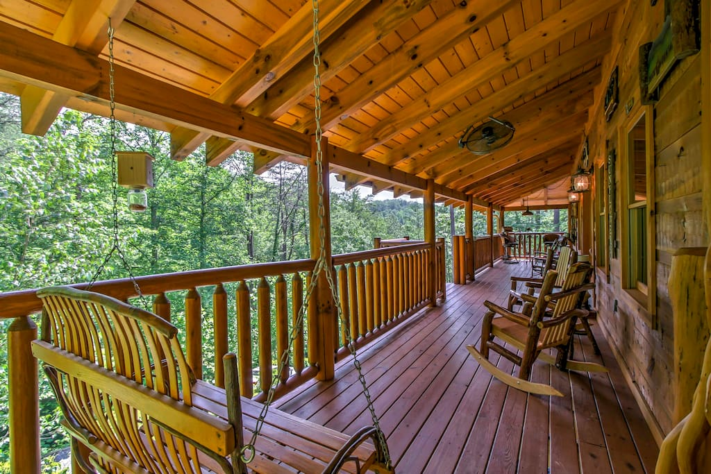 Spend your mornings relaxing outside on the expansive front porch.