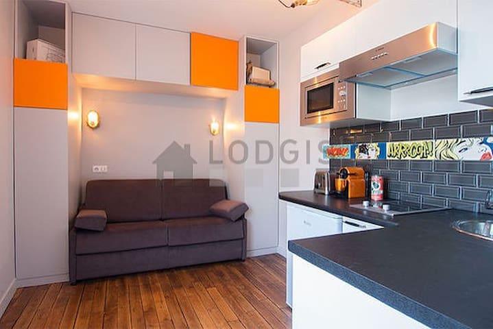 An atelier/loft style studio. Odéon/St-Michel