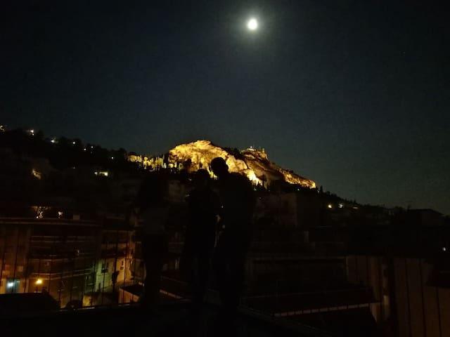Central Athens - top floor studio, fantastic view