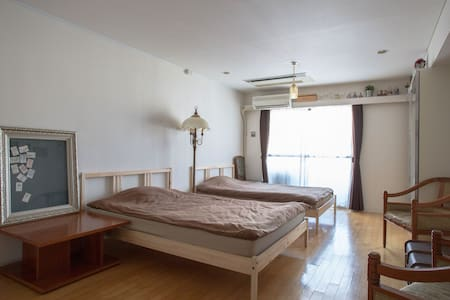 ⑤6PAX★Namba★5min walk★PRIVATE★WIFI★Great view - Osaka - Appartement