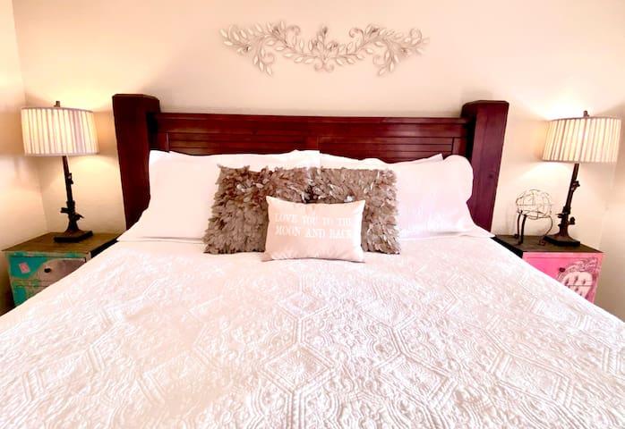 King-sized memory foam mattresses will make it hard to leave