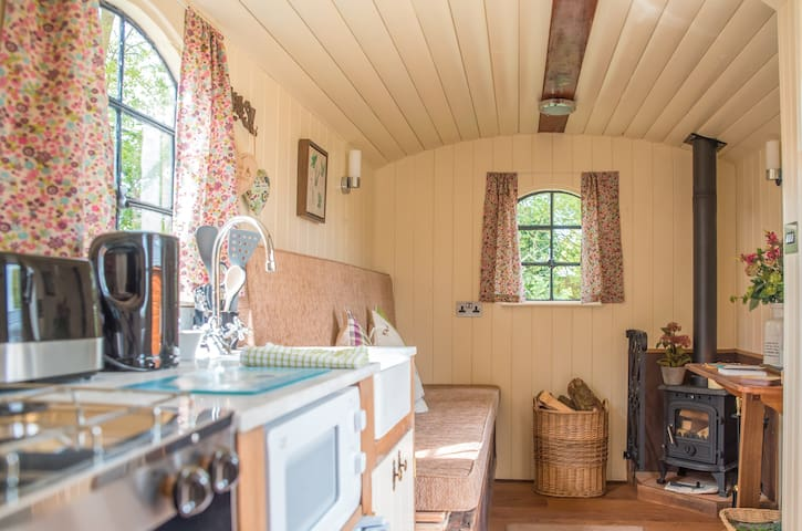 Fully Insulated, our wooden hut is lovely and cosy