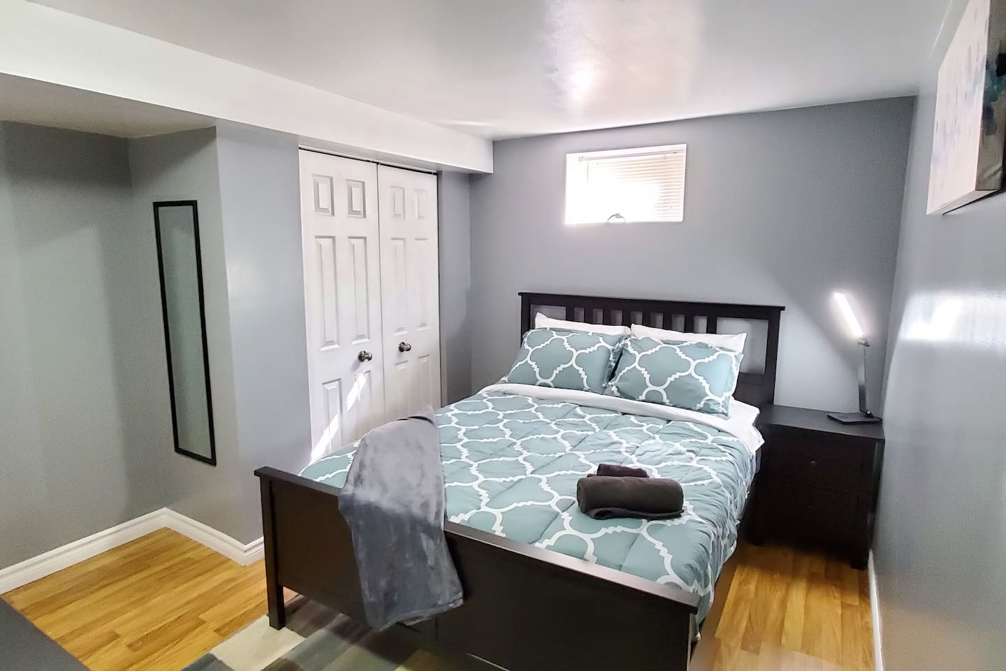 Relaxing bedroom With TV, Dresser and Large closet