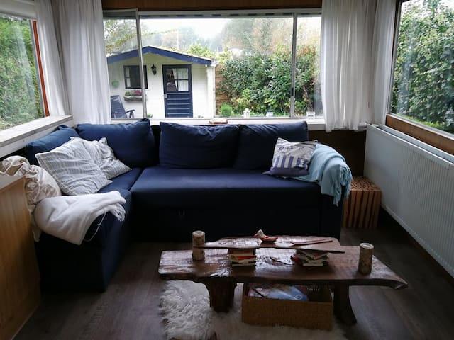 Comfortabele stacaravan met chalet!  Mobile home!