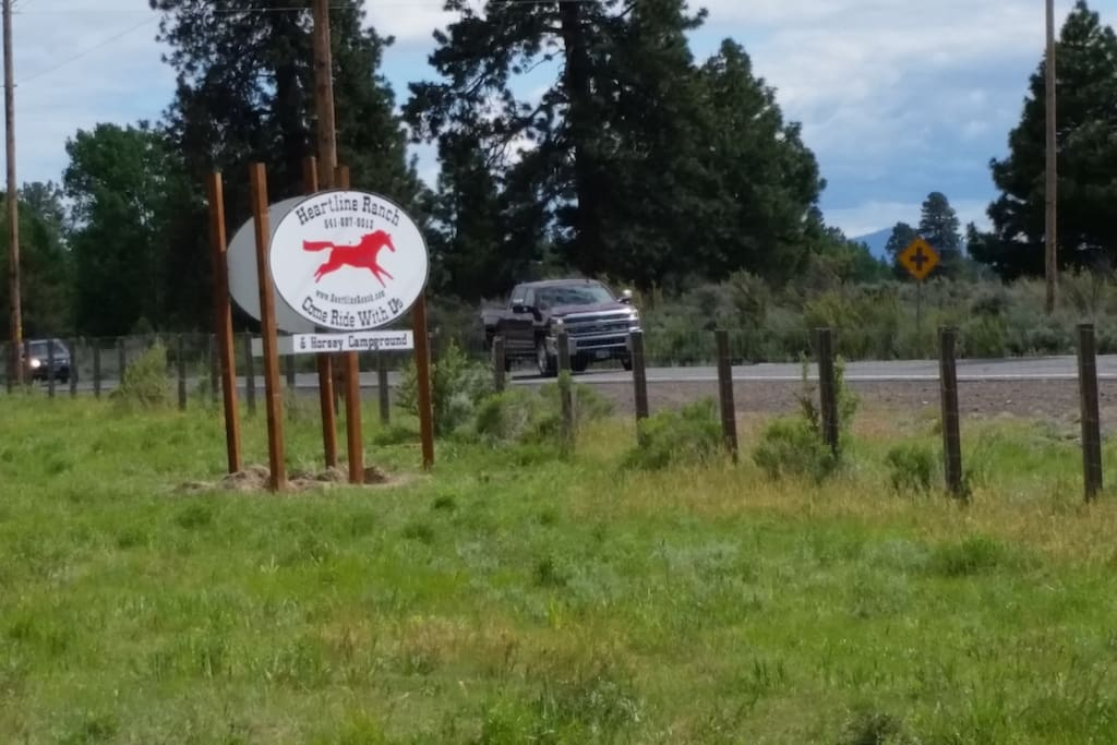 Front sign of Ranch & Campgrounds.
