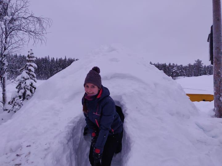 Aurora Igloohotel--Sleep in snow igloo